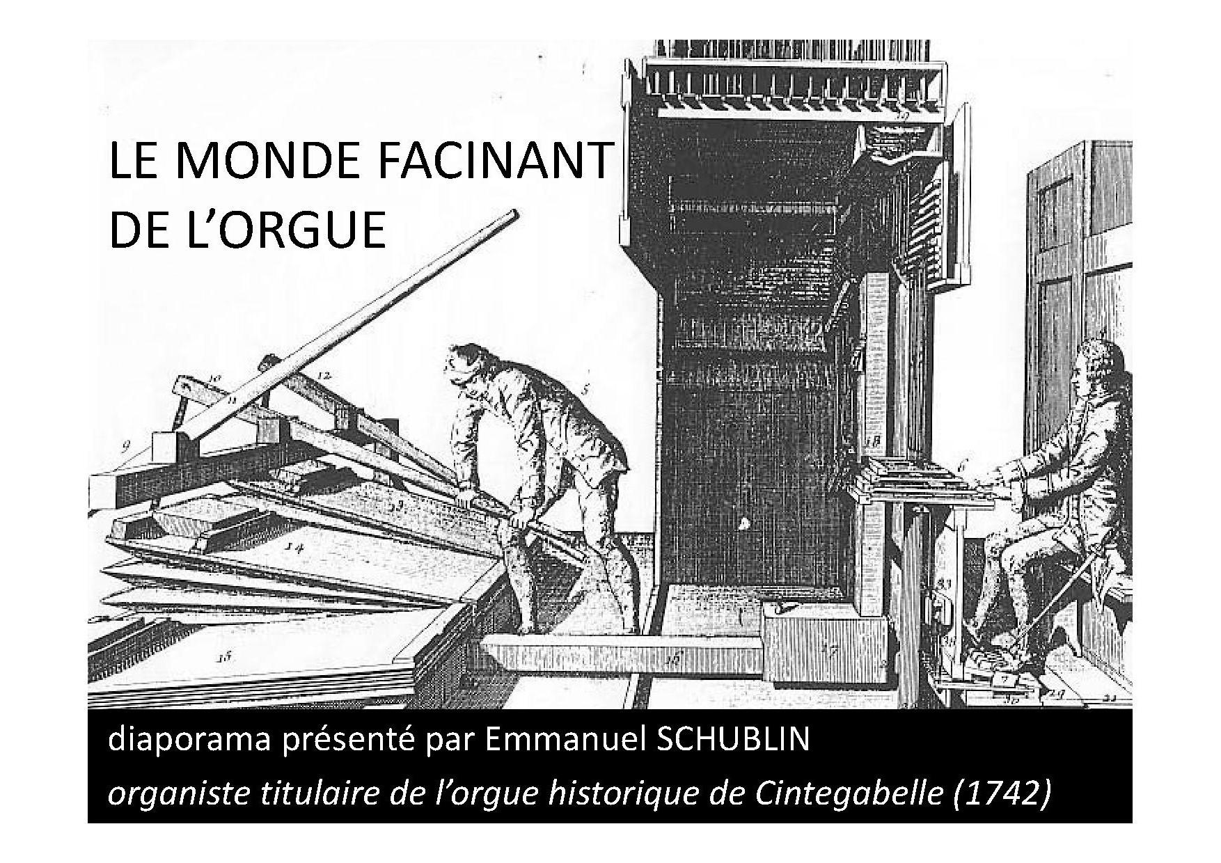 LE MONDE FASCINANT DE L'ORGUE